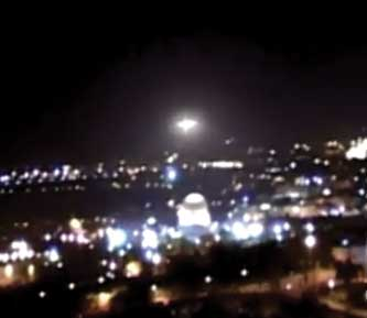 'Star' over Mount in Jerusalem