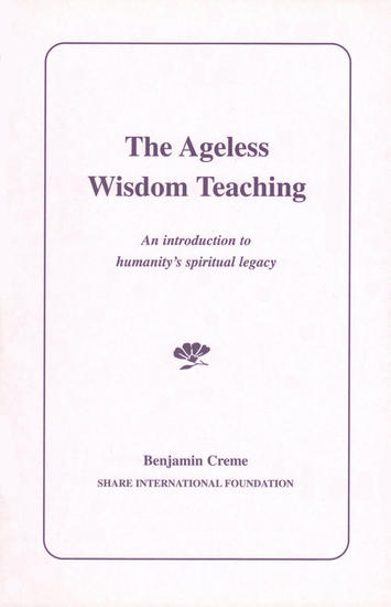 Share International photo for October 2013 – The Ageless Wisdom Teaching, by Benjamin Creme