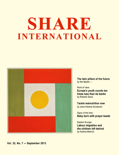 Share International magazine cover for 2013