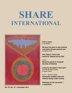 Share International magazine cover for 2014