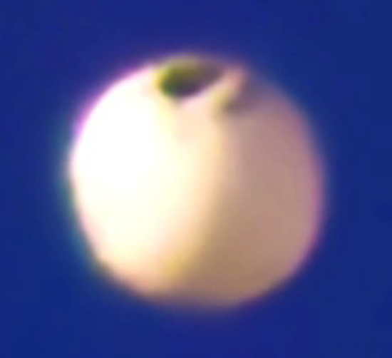 Share International March 2015 images, The Avare white orb was a spaceship from Mars.