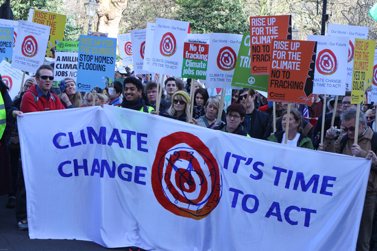 Share International May 2015 images, Time to Act, Climate demonstration