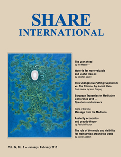Share International magazine cover for 2015