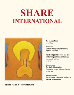 Share International magazine cover for 2016