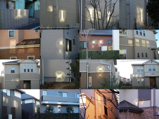 Share International January / February 2017 images, These patterns of light are only a selection spotted one after another in the same area of northwest Tokyo