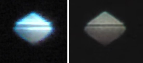 Share International May 2017 images, UFO seen in Chiclayo, Peru, on 27 February 2017 (left); Lynchburg, Virginia, USA, on 3 March 2017