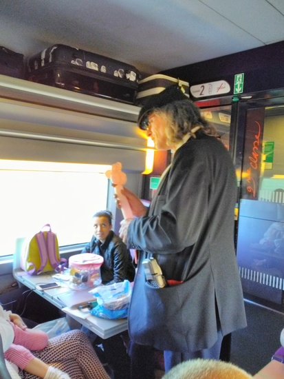 Share International September 2017 images, The ticket collector in the train between Lille and Lyon, France, on 3 July 2017