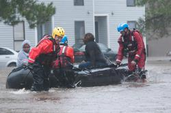 Share International October 2017 images, Coast Guardsmen conduct rescue operations in Jacksonville, Florida, Sept. 11, 2017