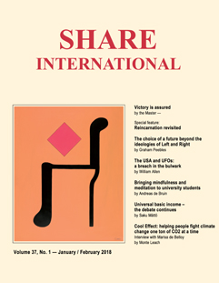 Share International magazine cover for 2018