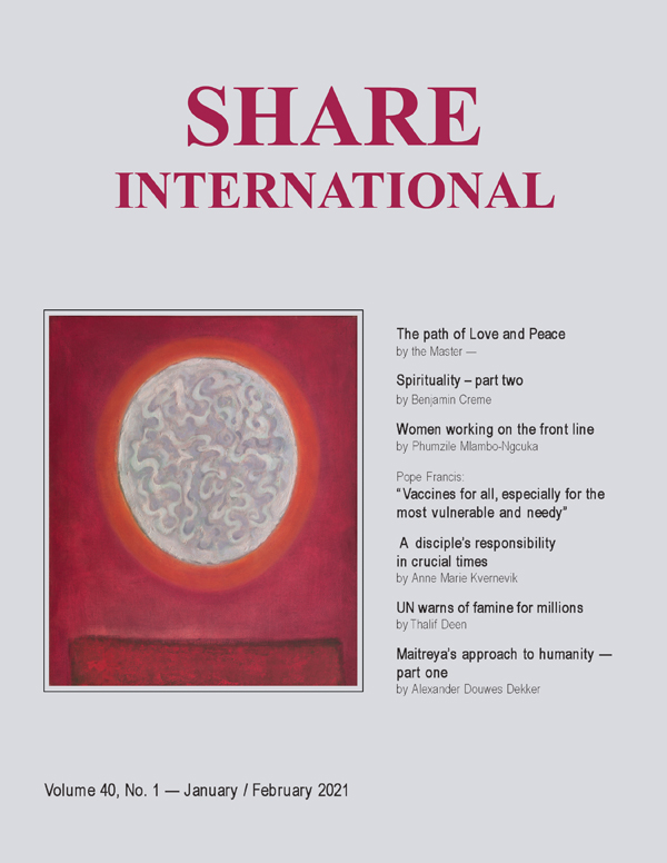 Share International magazine cover for 2021